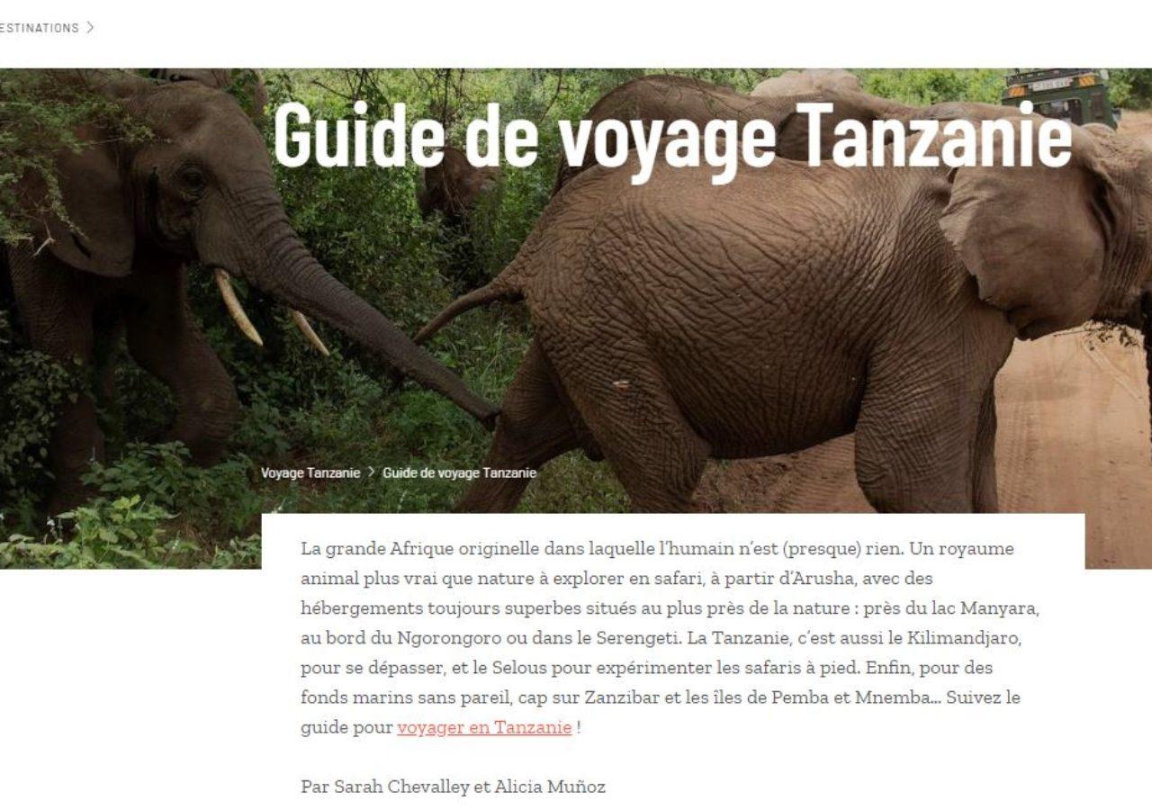 Comptoir des Voyages - guide Tanzanie
